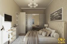 Визуализация спальной в квартире Греции